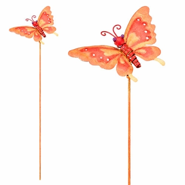 Metal Butterly Garden Stakes (Set of 6) - Click to enlarge