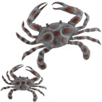 Blue Metal Crab Decor (Set of 2)