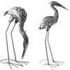 Large Metal Cranes Birds - Upright & Feeding