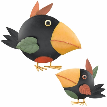 Metal Crow Decor (Set of 2) - Click to enlarge