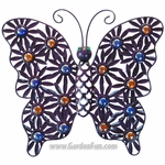 Metal Filigree Butterfly Wall Decor