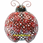 Metal Filigree Ladybug Wall Decor