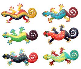 Metal Gecko Wall Art (Set of 12) - Click to enlarge