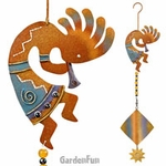 Metal Kokopelli Twirly