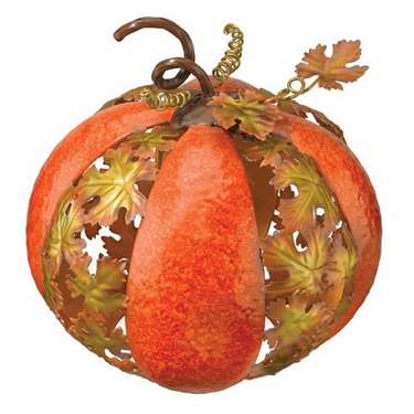 Metal Leaf Pumpkin - medium - Click to enlarge