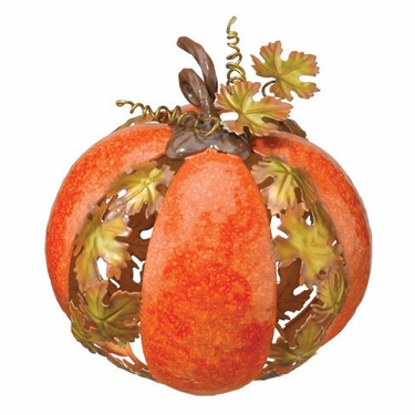 Metal Leaf Pumpkin - small - Click to enlarge