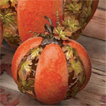 Metal Leaf Pumpkin - small