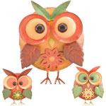 Metal Owl Decor (Set of 3)
