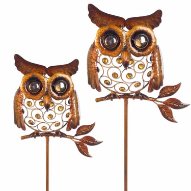 Metal Owl Stakes (Set of 2) - Click to enlarge