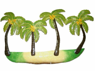 Metal Palm Trees Wall Art - Click to enlarge