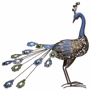 Metal Peacock Bird - Click to enlarge