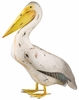 "Metal Pelican Bird Decor - 20"" Head Down"
