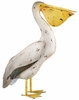 "Metal Pelican Bird Decor - 22"" Head Up"
