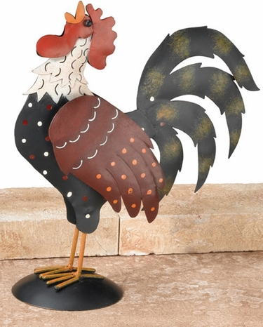 Metal Rooster Decor - Click to enlarge