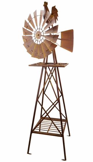 Metal Rooster Windmill - Click to enlarge