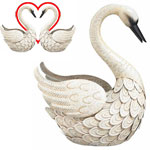 Metal Swan Bird Decor