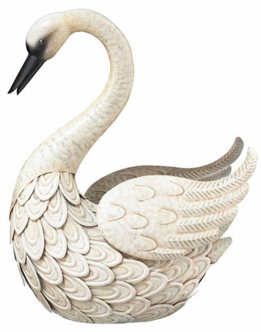Metal Swan Bird Decor - Click to enlarge