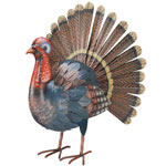 Metal Turkey Decor