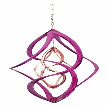 Metal Wind Spinner - Pink Cosmix - Click to enlarge