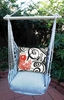Ticking Black Single Koi Hammock Chair Swing Set