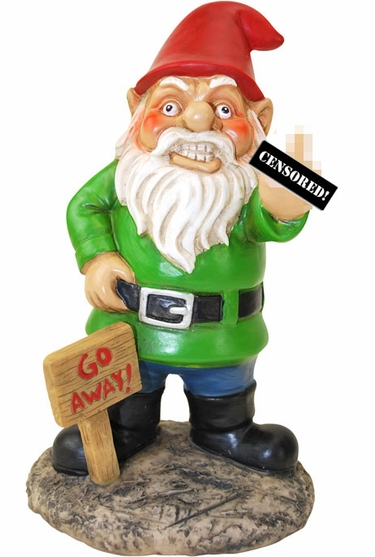 Middle Finger Gnome - Click to enlarge