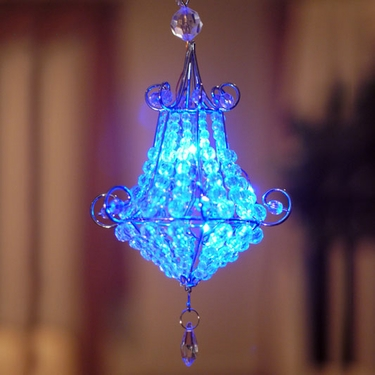 Mini Chandelier LED Light - Blue (Set of 2) - Click to enlarge