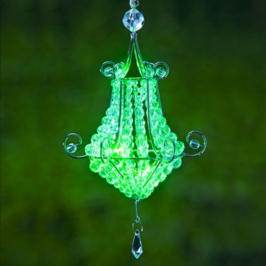 Mini Chandelier LED Light - Green (Set of 4) - Click to enlarge