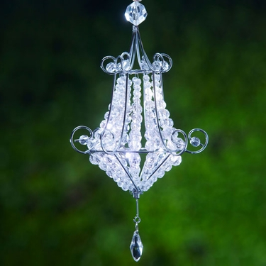 Mini Chandelier LED Light - White - Click to enlarge