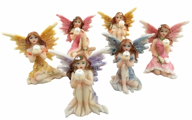 Miniature Fairies w/Pearl (Set of 6) - Click to enlarge