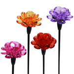 Mini Solar Flower Stakes (Set of 4)