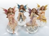 Miniature Fairy w/Gazing Ball (Set of 4)