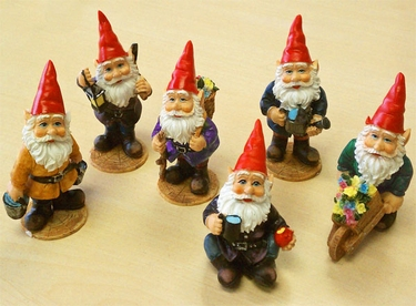 Miniature Garden Gnomes (Set of 6) - Click to enlarge