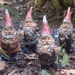 Miniature Gnomes (Set of 4)