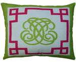 Monogram Outdoor Pillow