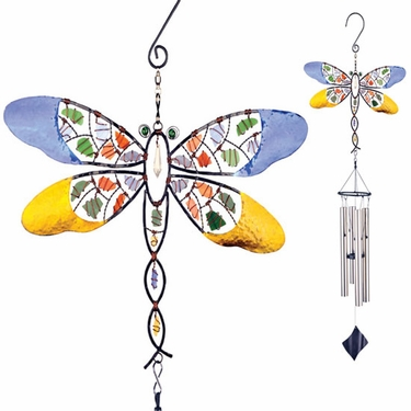 Mosaic Dragonfly Wind Chime - Click to enlarge
