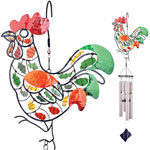 Mosaic Rooster Wind Chime