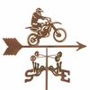 Motocross Motorcycle Weathervane