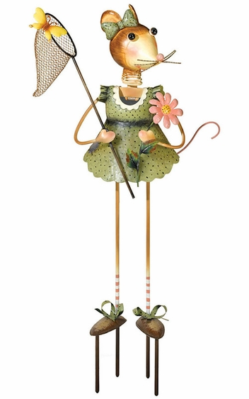 Mouse Lady Garden Decor - Click to enlarge
