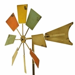 Multi-Color Metal Windmill