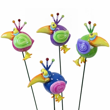Mynah Bird Garden Stakes (Set of 6) - Click to enlarge
