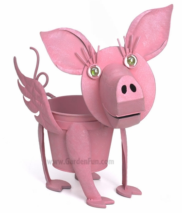 Myrtle the Flying Pig Planter - Click to enlarge