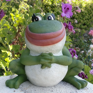 Nanette Frog Statue only 3299 at Garden Fun