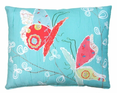 Nature Doodle Butterflies Outdoor Pillow - Click to enlarge