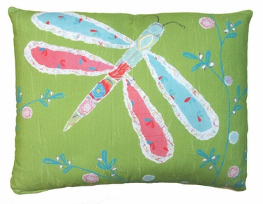 Nature Doodle Dragonfly Outdoor Pillow - Click to enlarge