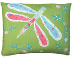 Nature Doodle Dragonfly Outdoor Pillow
