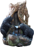 Nature's Big Bears Outdoor Fountain w/LED Lights