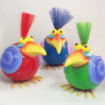 Nerdy Bird Statues (Red/Blue/Green)