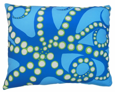 Octopus Blue Outdoor Pillow - Click to enlarge