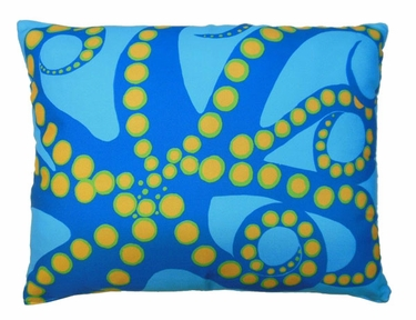 Octopus Orange Outdoor Pillow - Click to enlarge