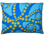 Octopus Orange Outdoor Pillow